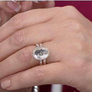 Deb Guyot HERKIMER Diamond & LABRADORITE Flip Ring